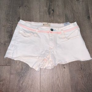 Roxy carnival denim off white shorts